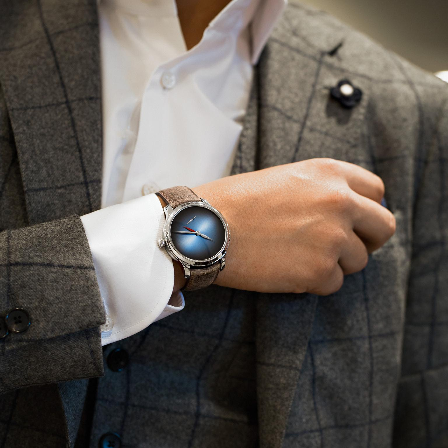 H. Moser & Cie Endeavour Dual Time watch lifestyle image