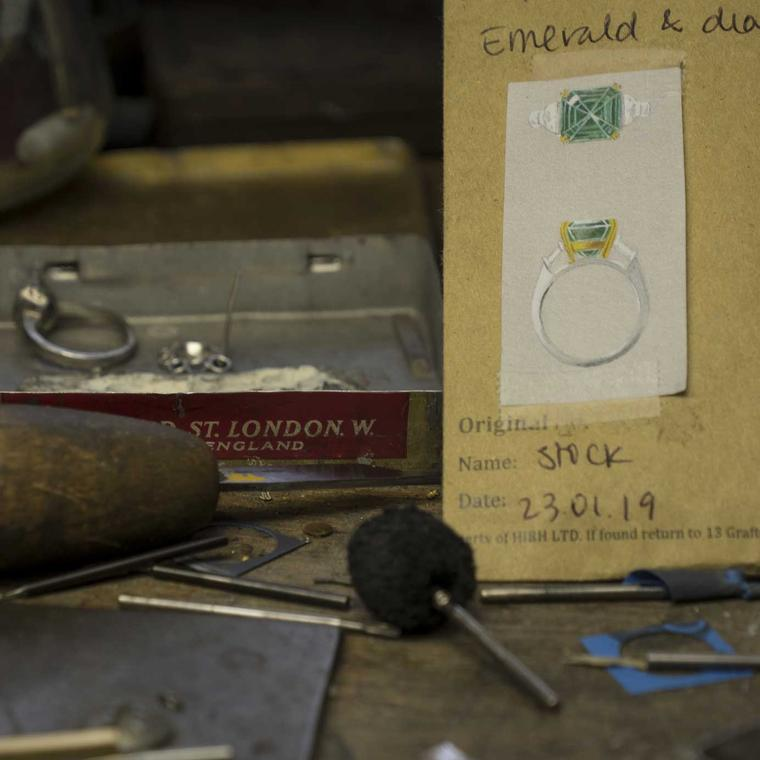 Hirsh London jewellery workshop