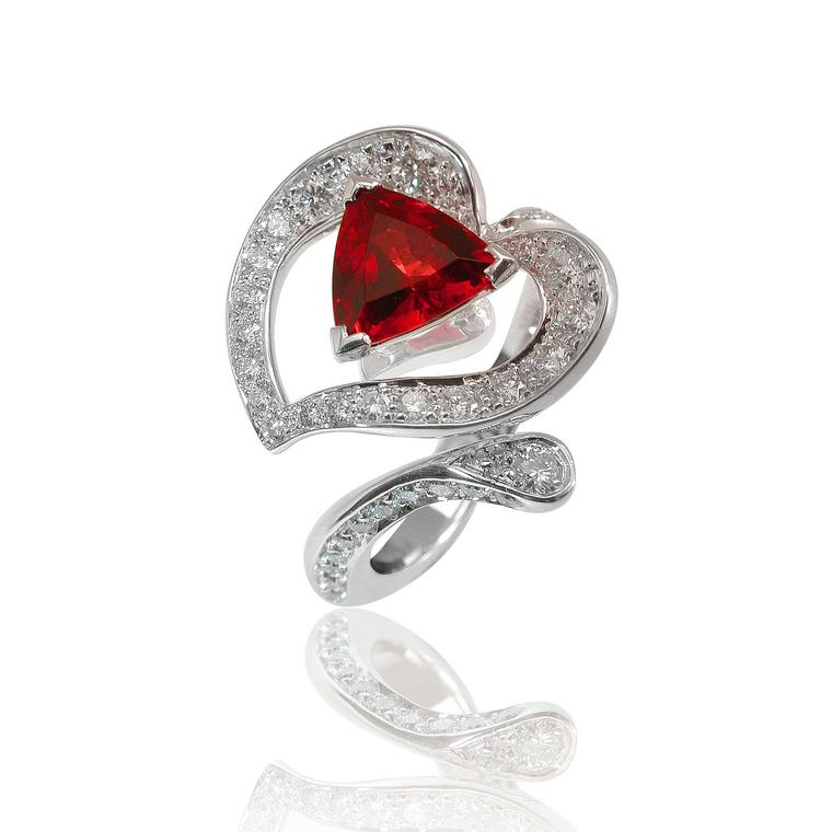 Mathon Paris Arôme ring with spinel and diamonds