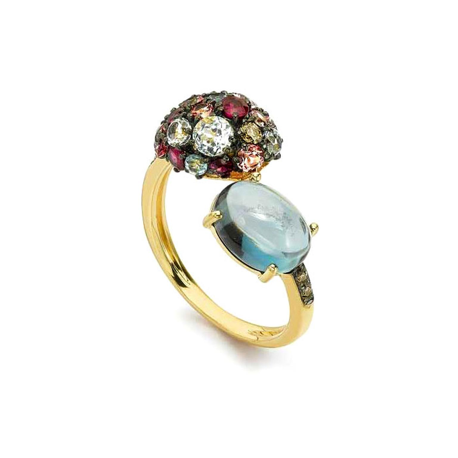 Brumani blue topaz ring