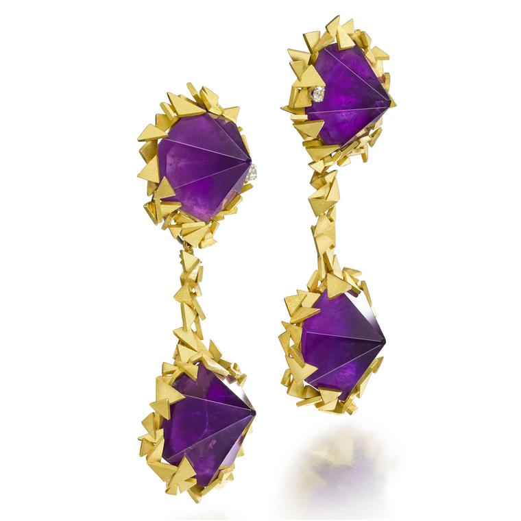 Andrew Grima amethyst earrings