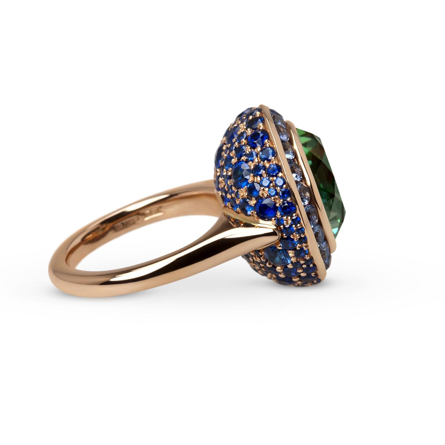 Ming Lampson Flowerbud tourmaline ring