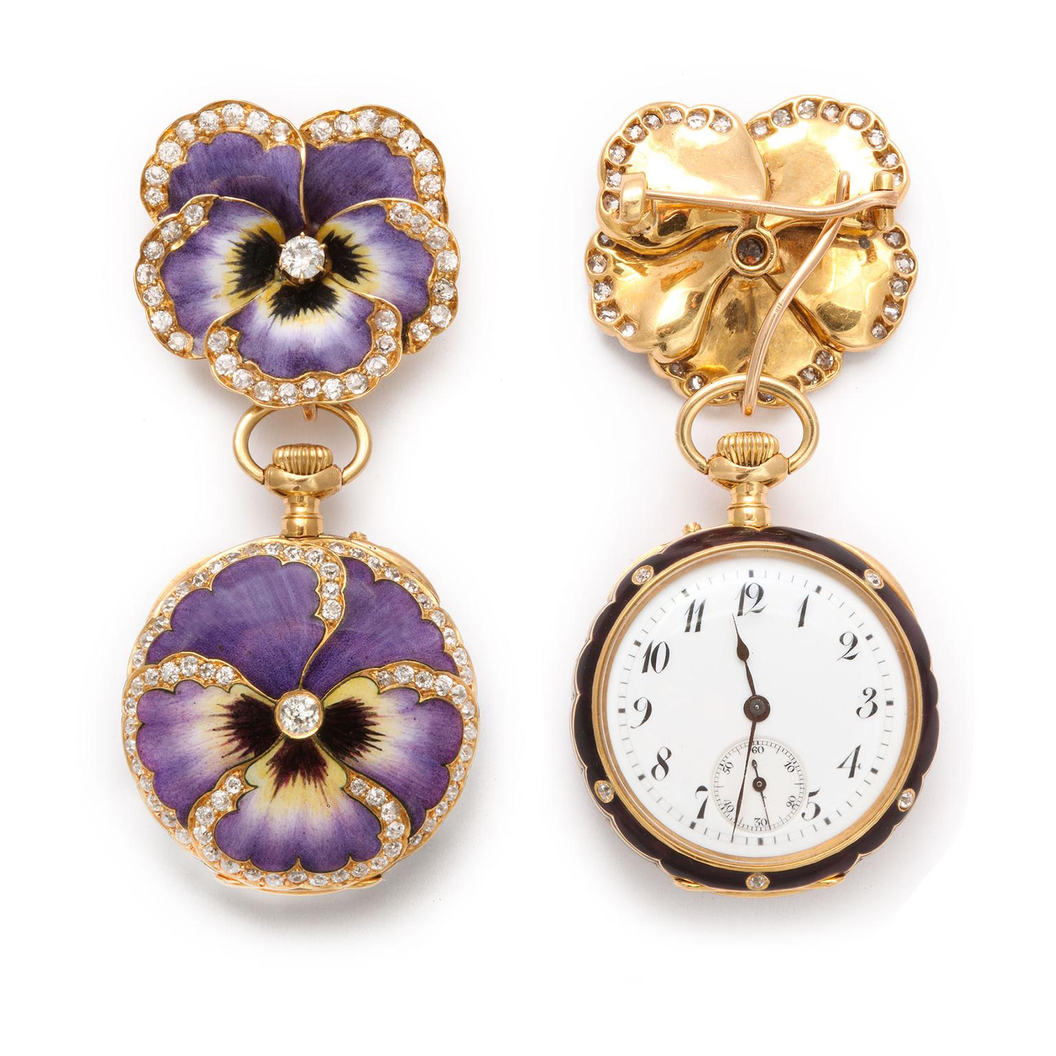 A La Vielle Russie brooch watch