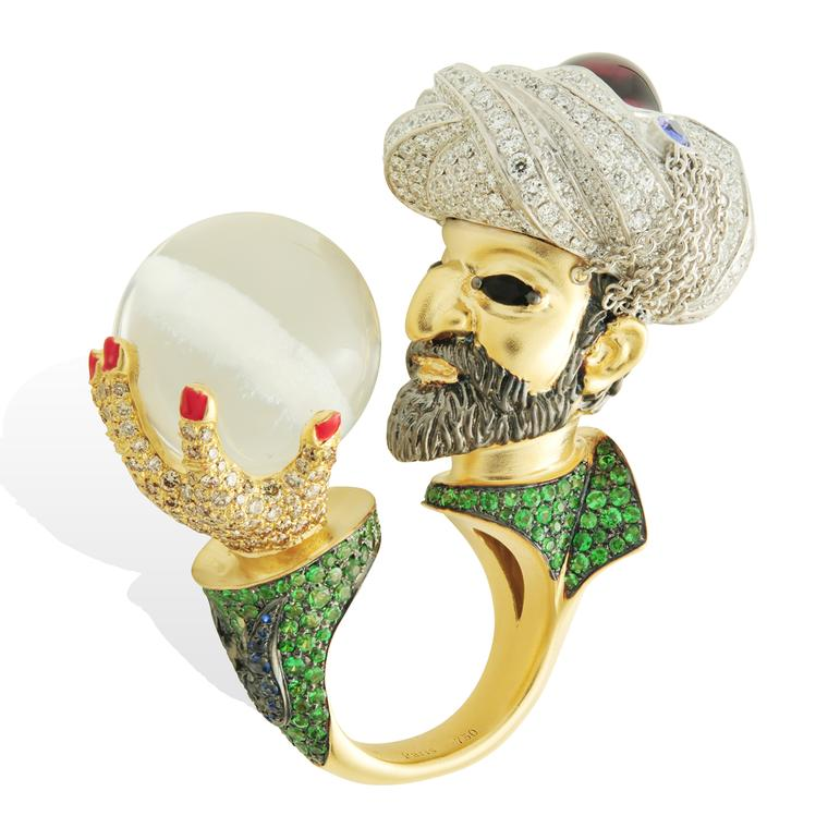 Lydia Courteille Topkapi Sultan Suleiman rock crystal ring