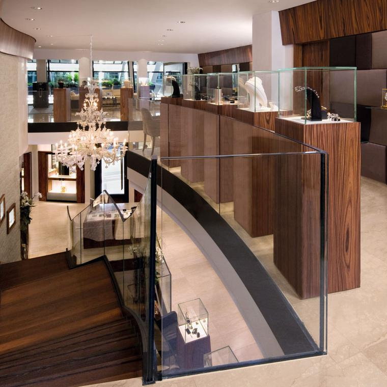Les Ambassadeurs boutique in Geneva interior