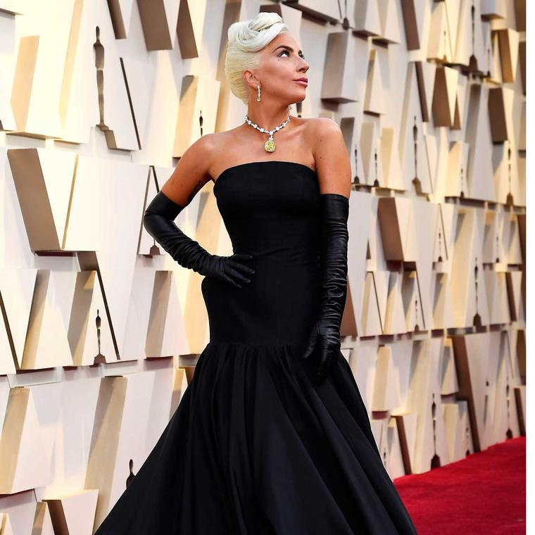 Lady Gaga Oscars Tiffany diamond GettyImages