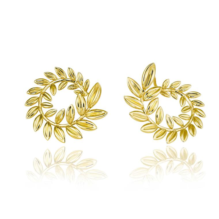 Chopard Palme Verte Fairmined gold earrings