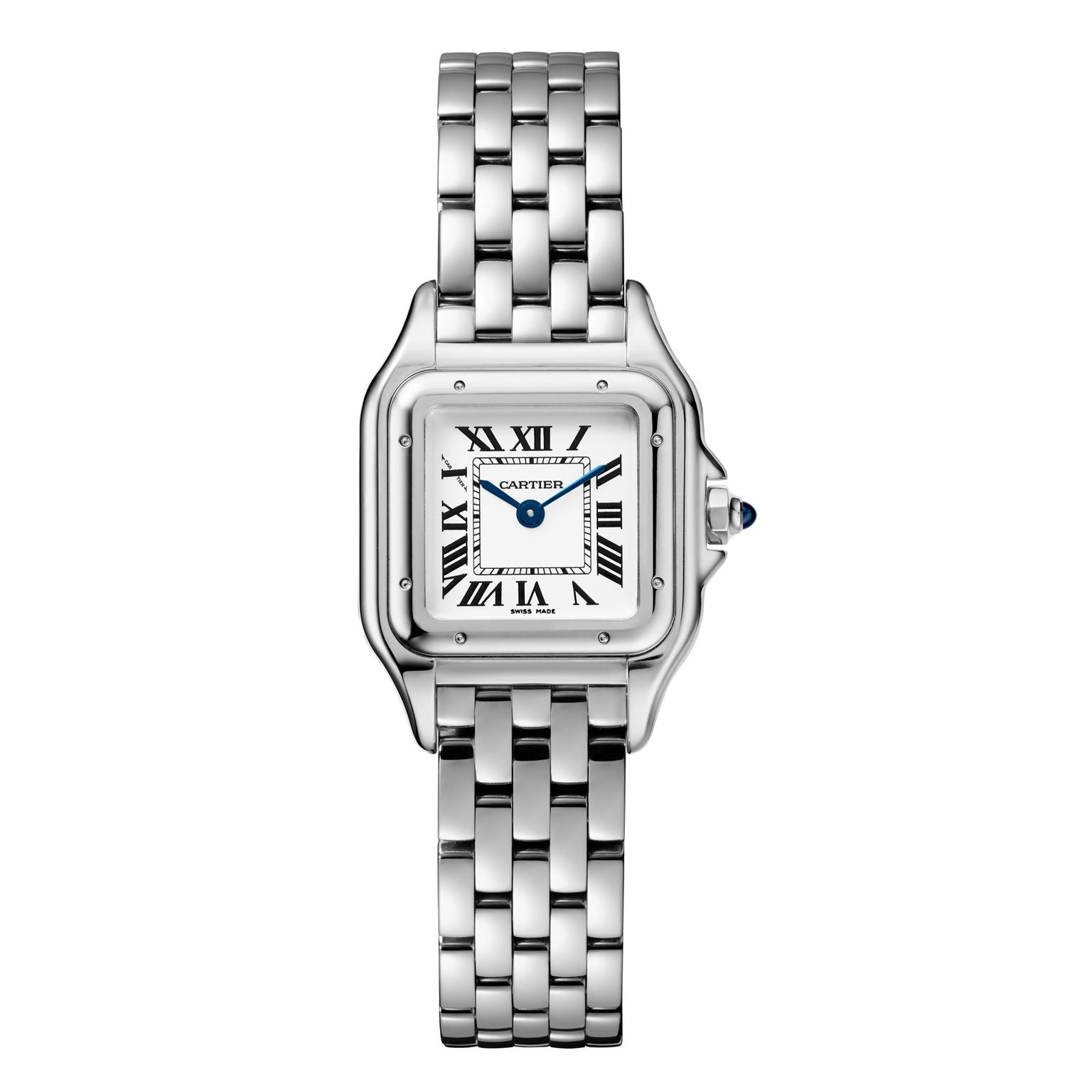 Small size Panthère de Cartier watch in stainless steel