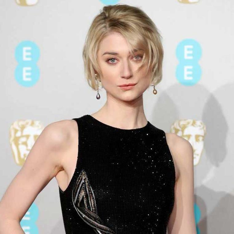 Elizabeth Debicki in Chopard earrings BAFTAs 2019