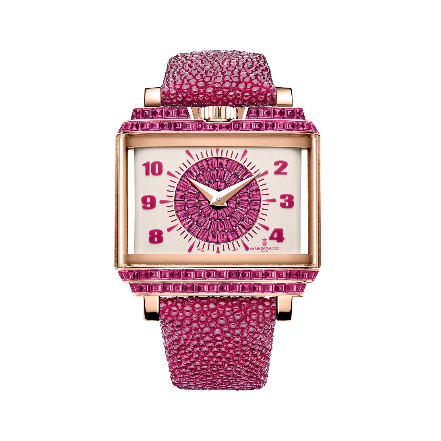 de GRISOGONO Retro Lady Baguette watch