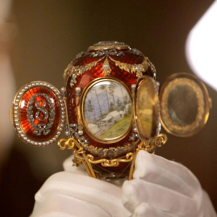 Faberge Caucasus Egg given to Tsarina Maria Feodorovna Easter 1893