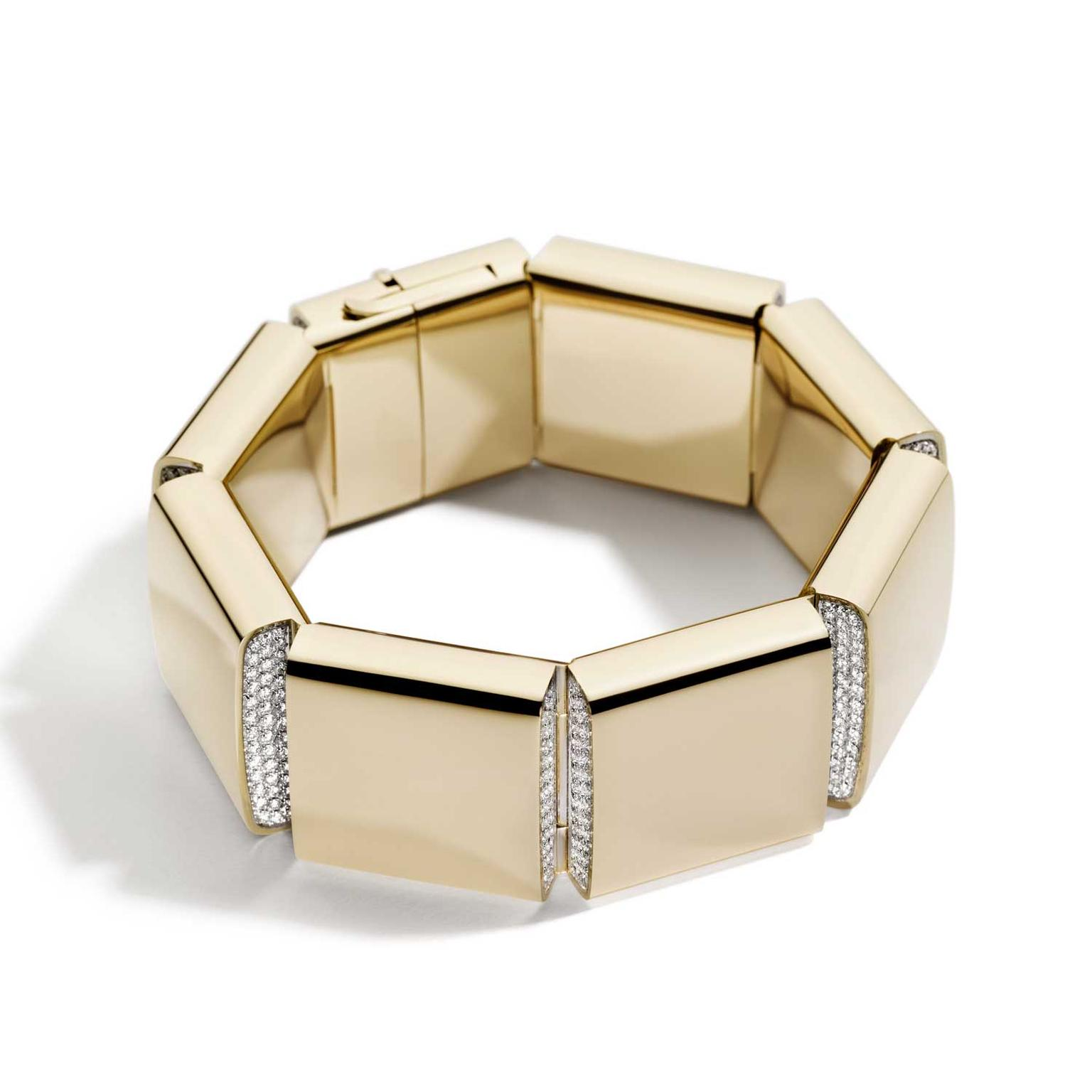 Vhernier Carré bracelet in rose gold and diamonds