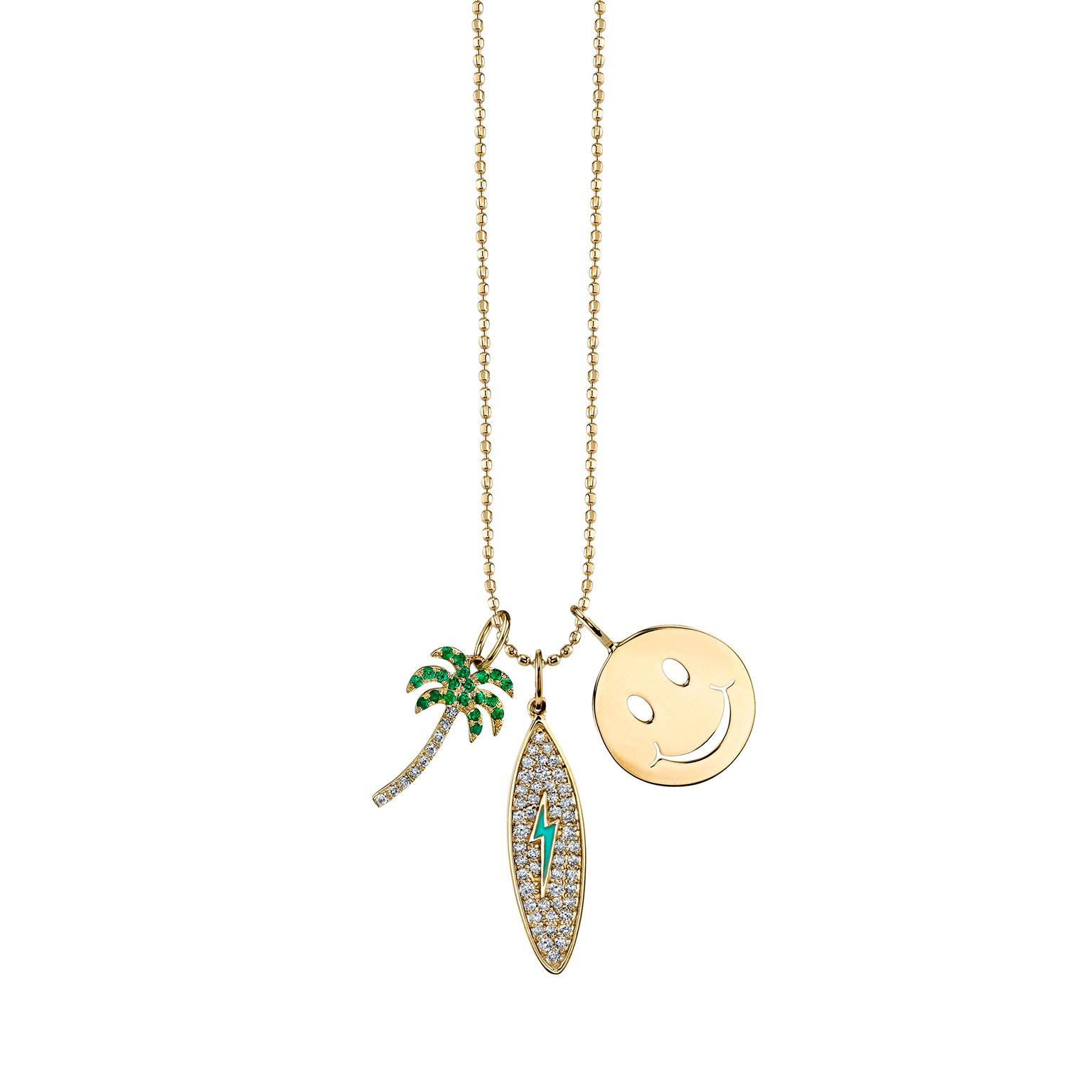 Sydney Evan California Dream charm necklace