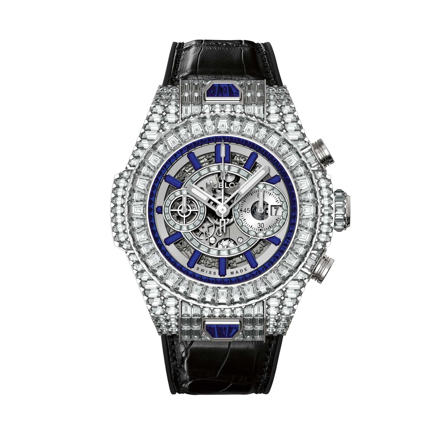 Hublot Big Bang 10 Year HJ with sapphires and diamonds