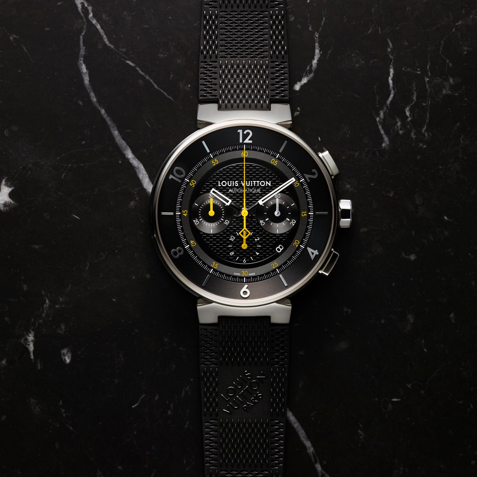 Louis Vuitton Tambour Moon Chronograph Black watch
