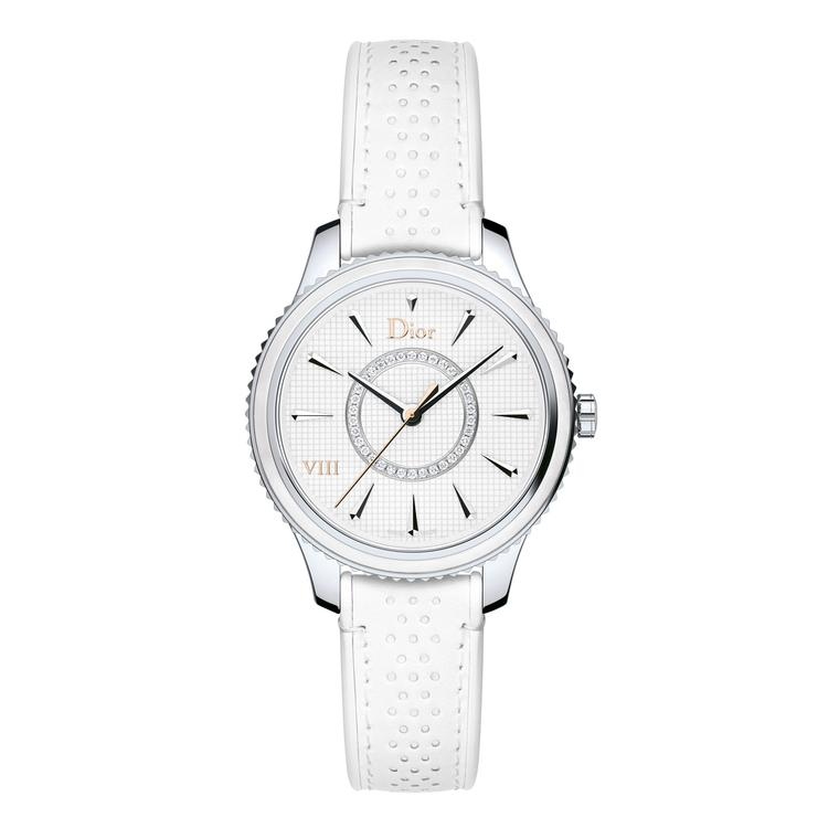Dior VIII Montaige 2017 watch with piqué cotton dial