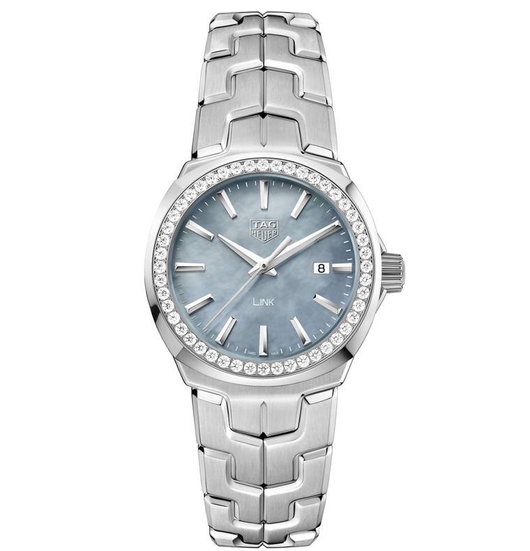 TAG Heuer Lady Link 32mm blue dial diamond bezel