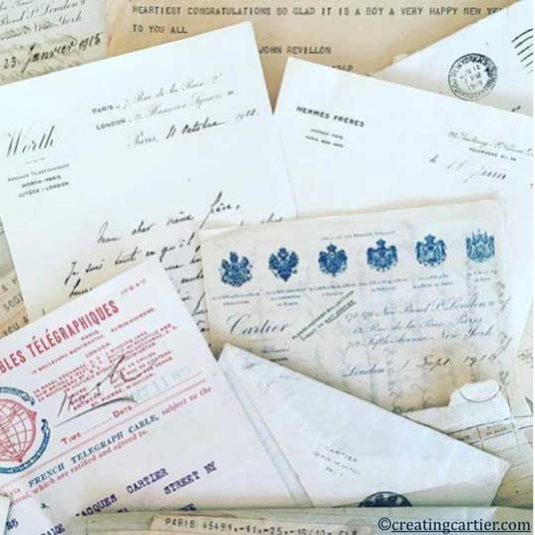 Letters in the Cartier family archives from other luxury family firms of the time, including the Worths, the Revillons, Tiffany and Hermes Freres.