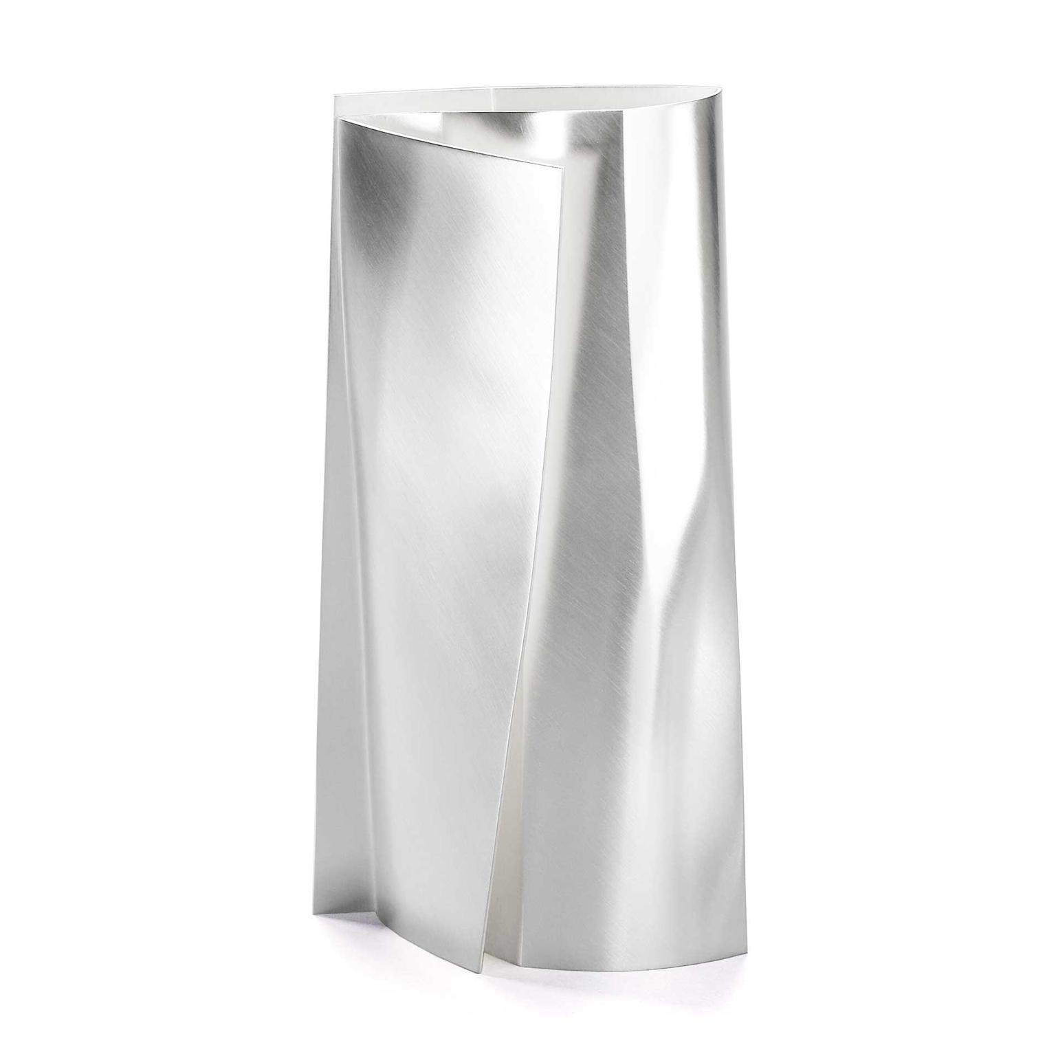 Esther Lord large Zigzag silver vase