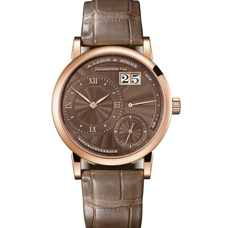 A. Lange Soehne ladies Little Lange 1 in rose gold with a hand wound movement.