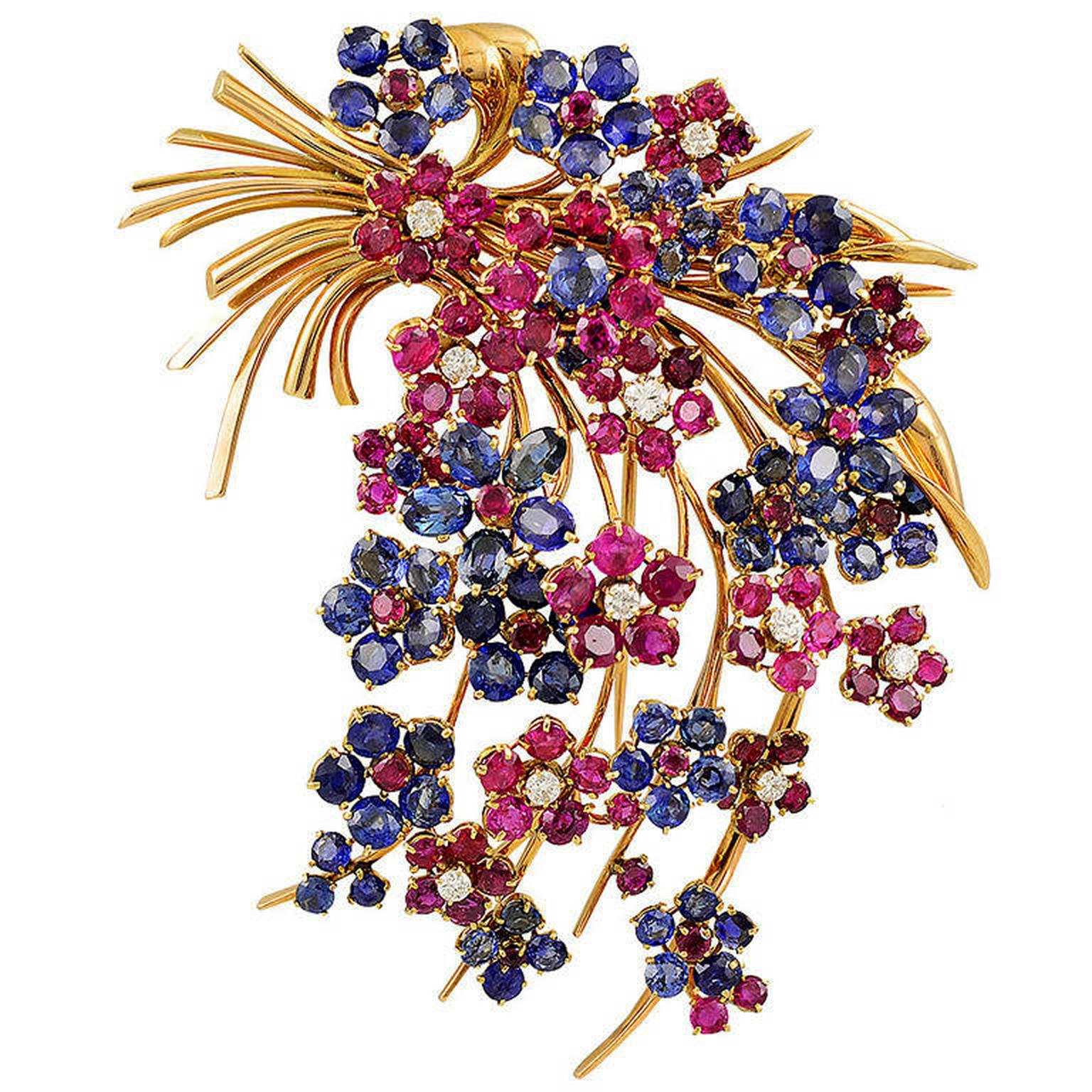 Yafa Van Cleef & Arpels Hawaii brooch