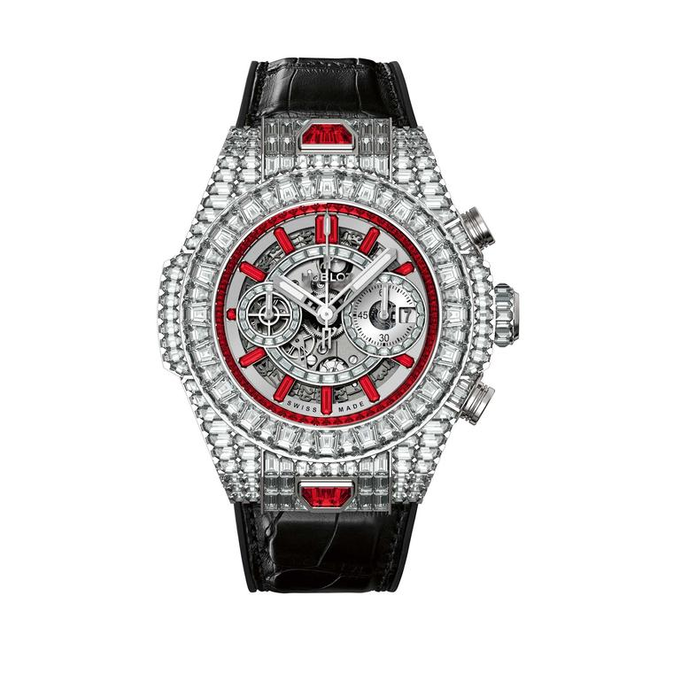 Hublot Big Bang 10 Year HJ with rubies and diamonds