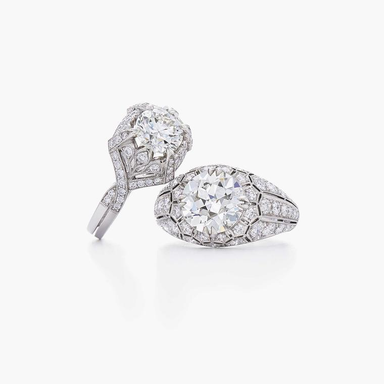 Get the vintage look with the new collection of Fred Leighton engagement rings
