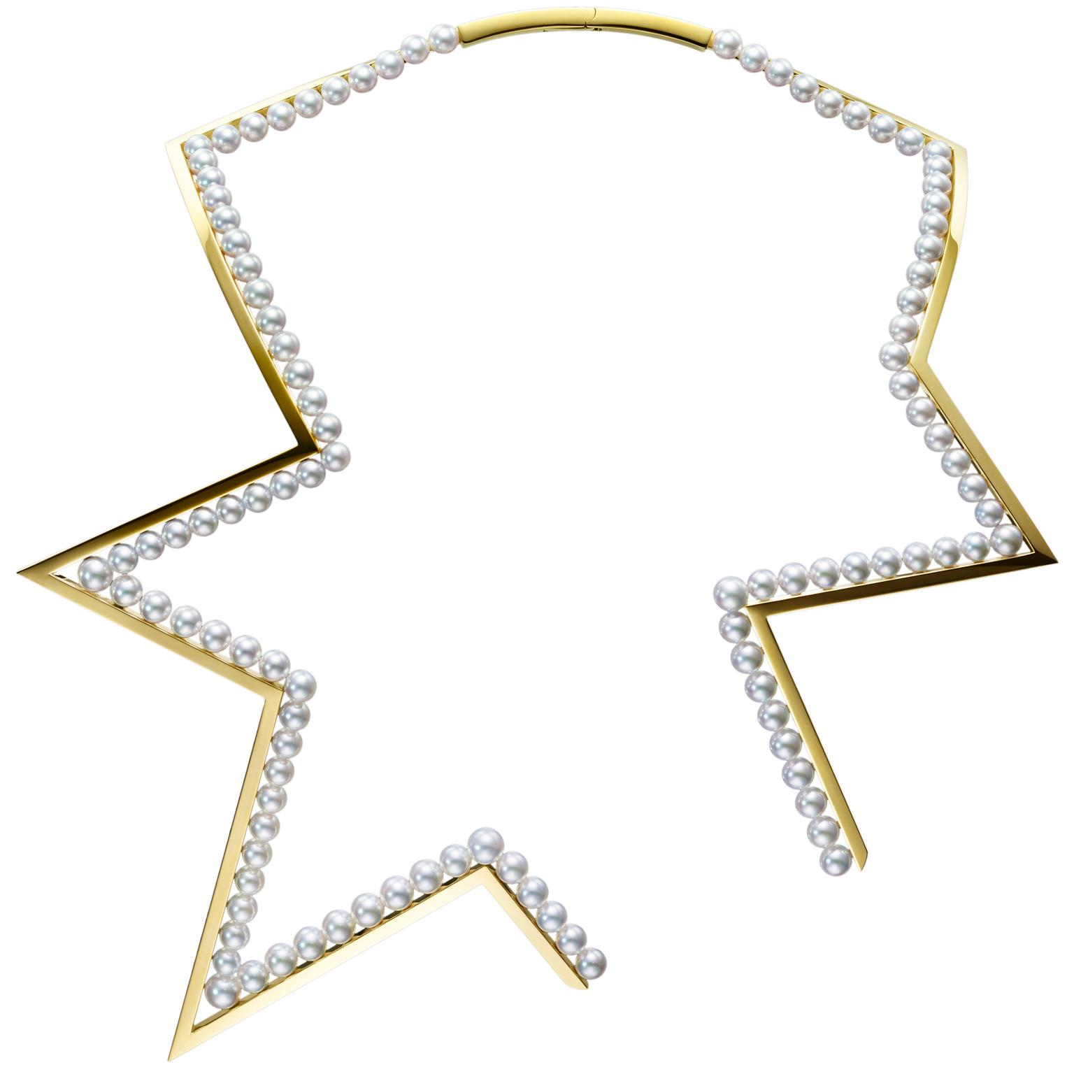 Tasaki Abstract Star pearl necklace