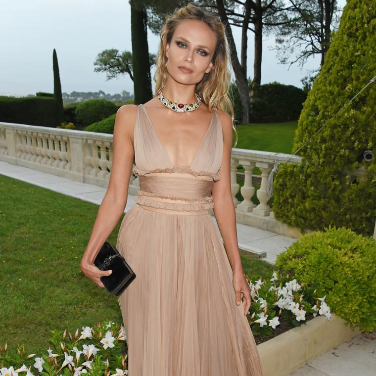 Natasha Poly Cannes 2017 vintage Bulgari necklace