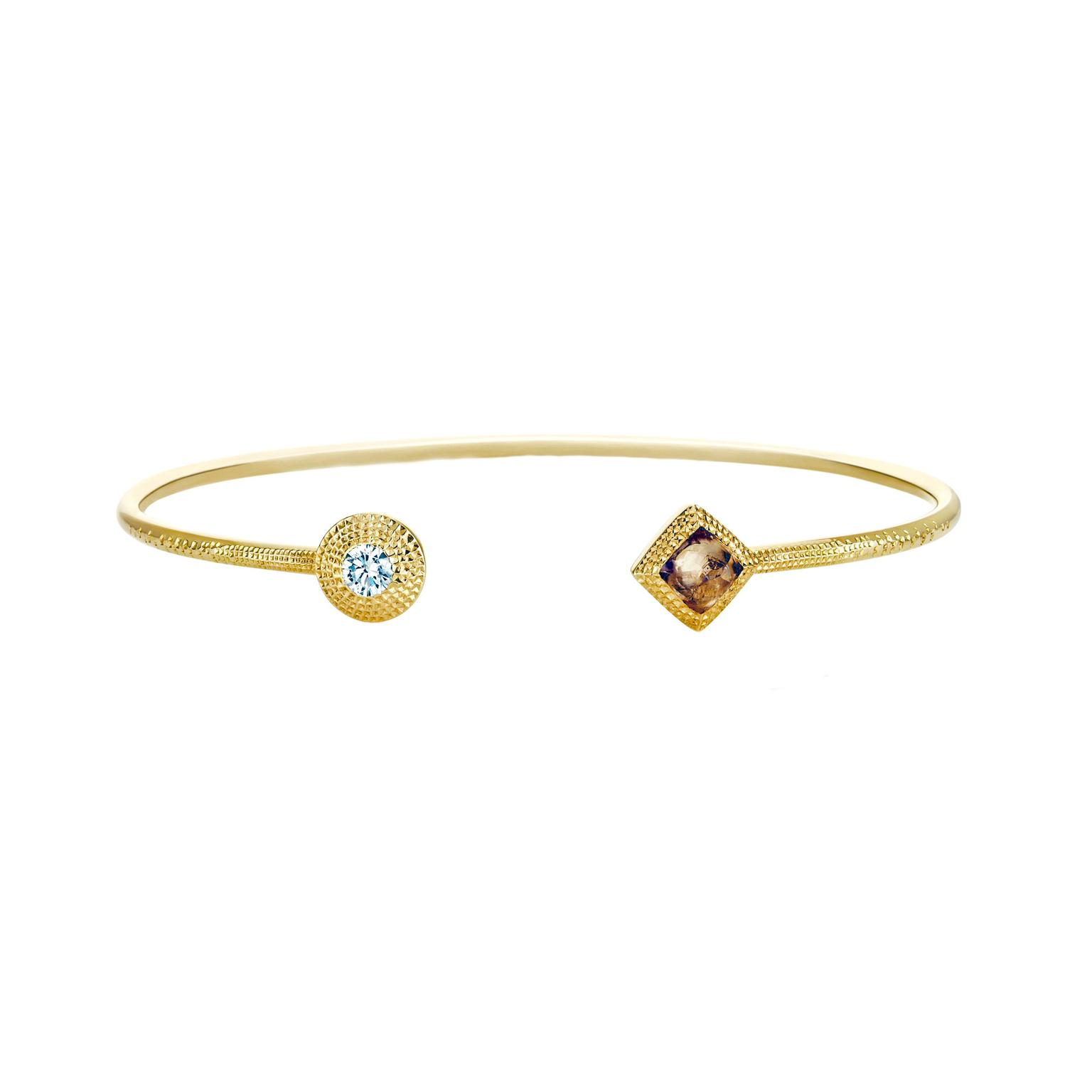 De Beers Talisman collection open bracelet