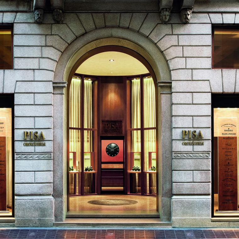 The Pisa watch boutique in Milan