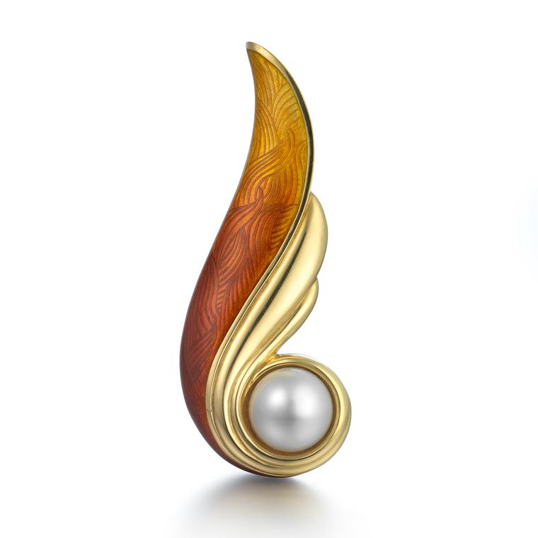 De Vroomen South Sea pearl brooch