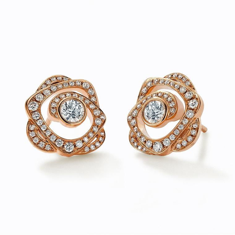 Boodles gold and diamond earrings