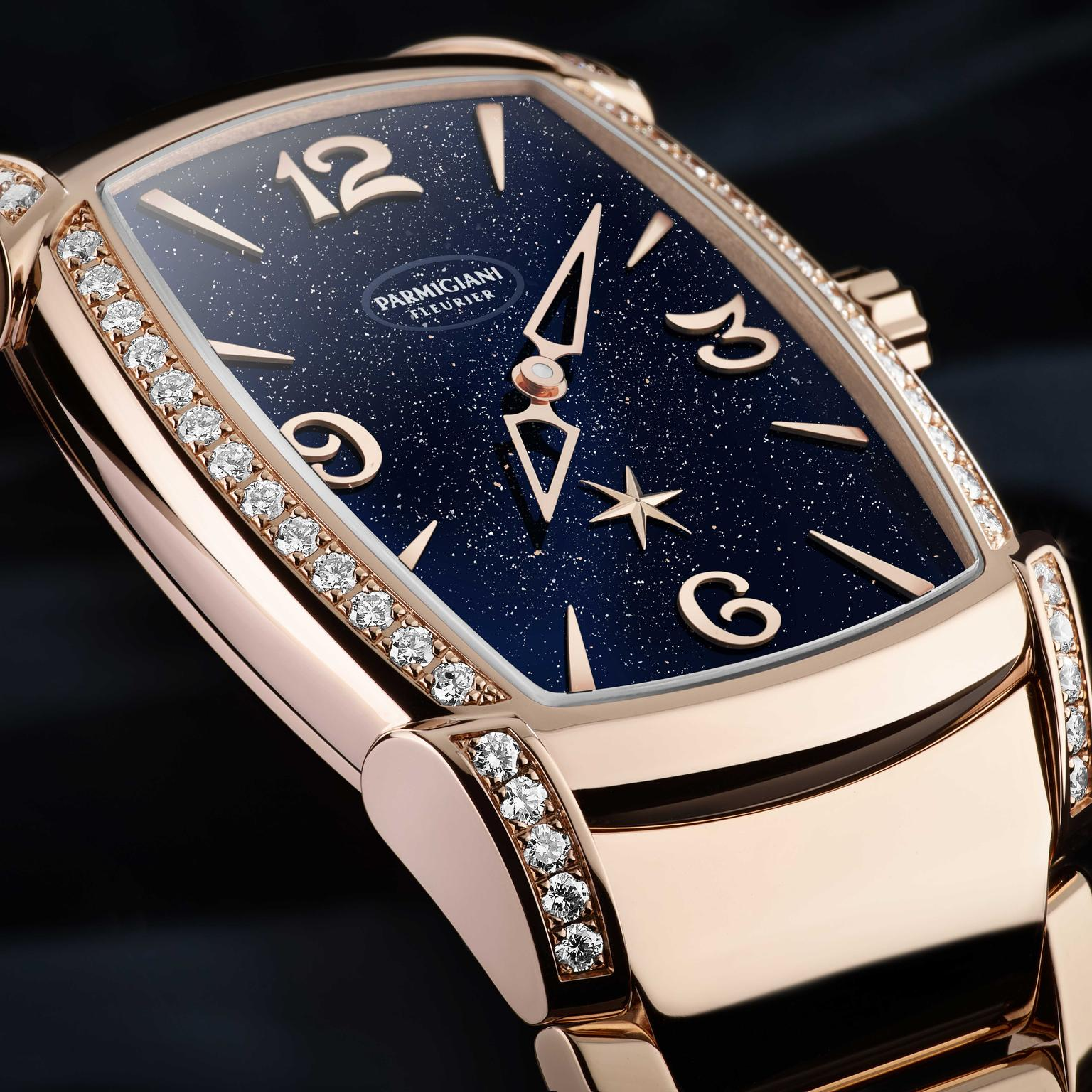 Parmigiani Fleurier's new rose gold Kalpa Nova Galaxy for ladies with an aventurine glass dial