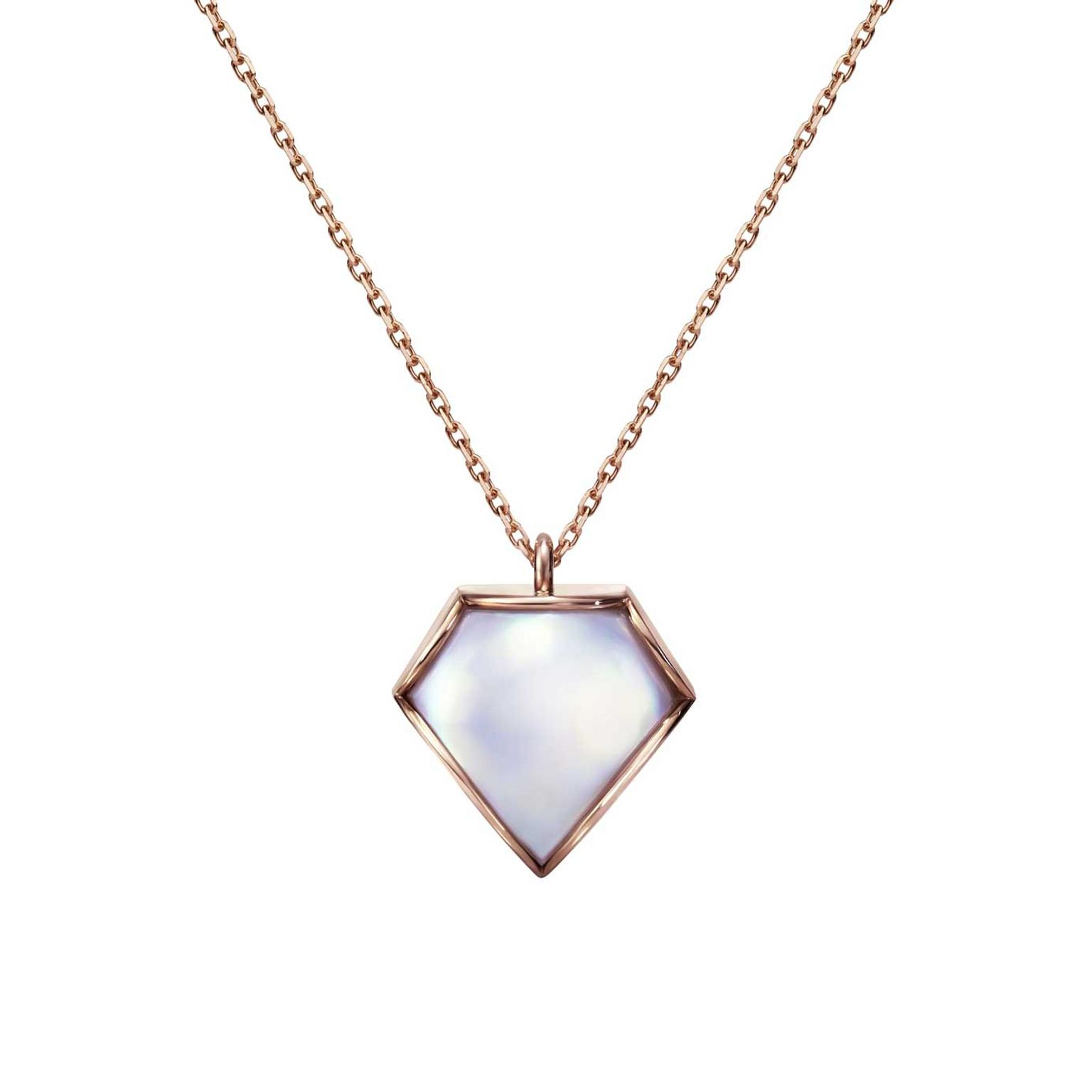 M/G Tasaki Sakura Gold Faceted pendant with mabe pearl