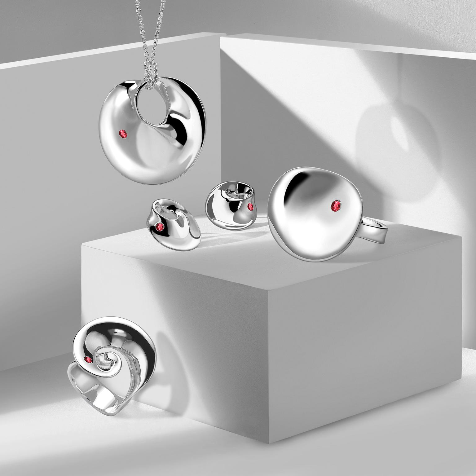Georg Jensen x Gemfields jewellery collaboration collection