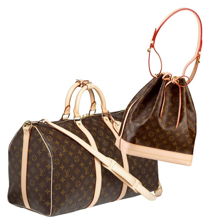 Louis Vuitton Keepall and Noe bags