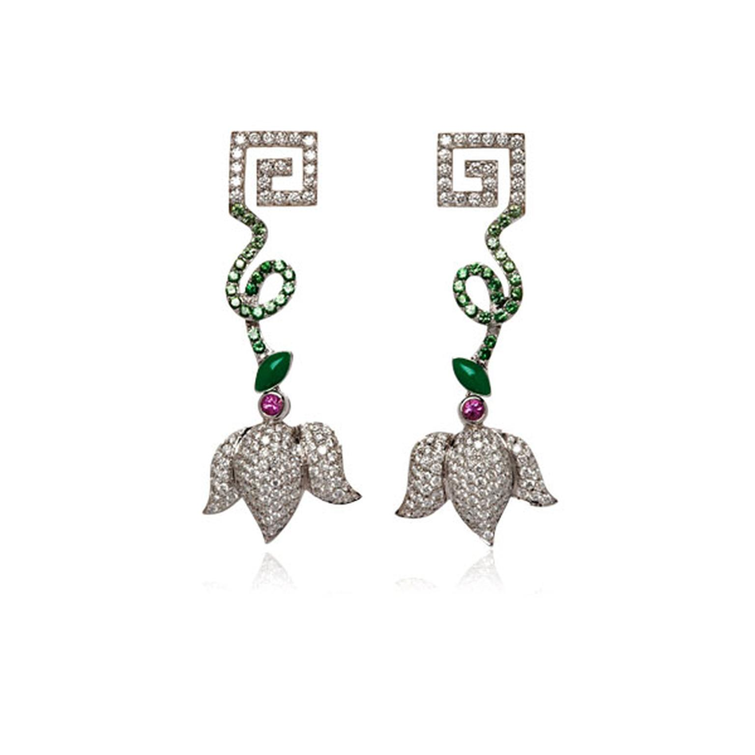 Stenmark green tsavorite earrings