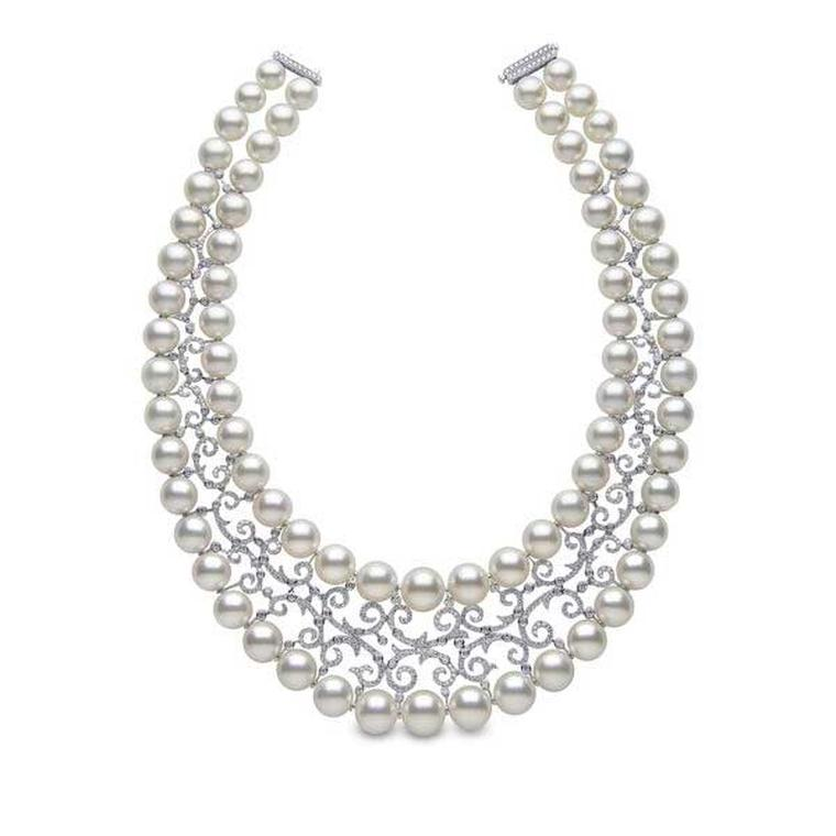 YOKO London wedding-day pearl necklace