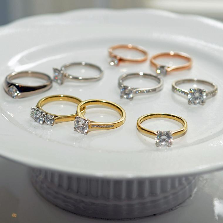 Arctic Circle Fairtrade gold and Canadian diamond engagement rings