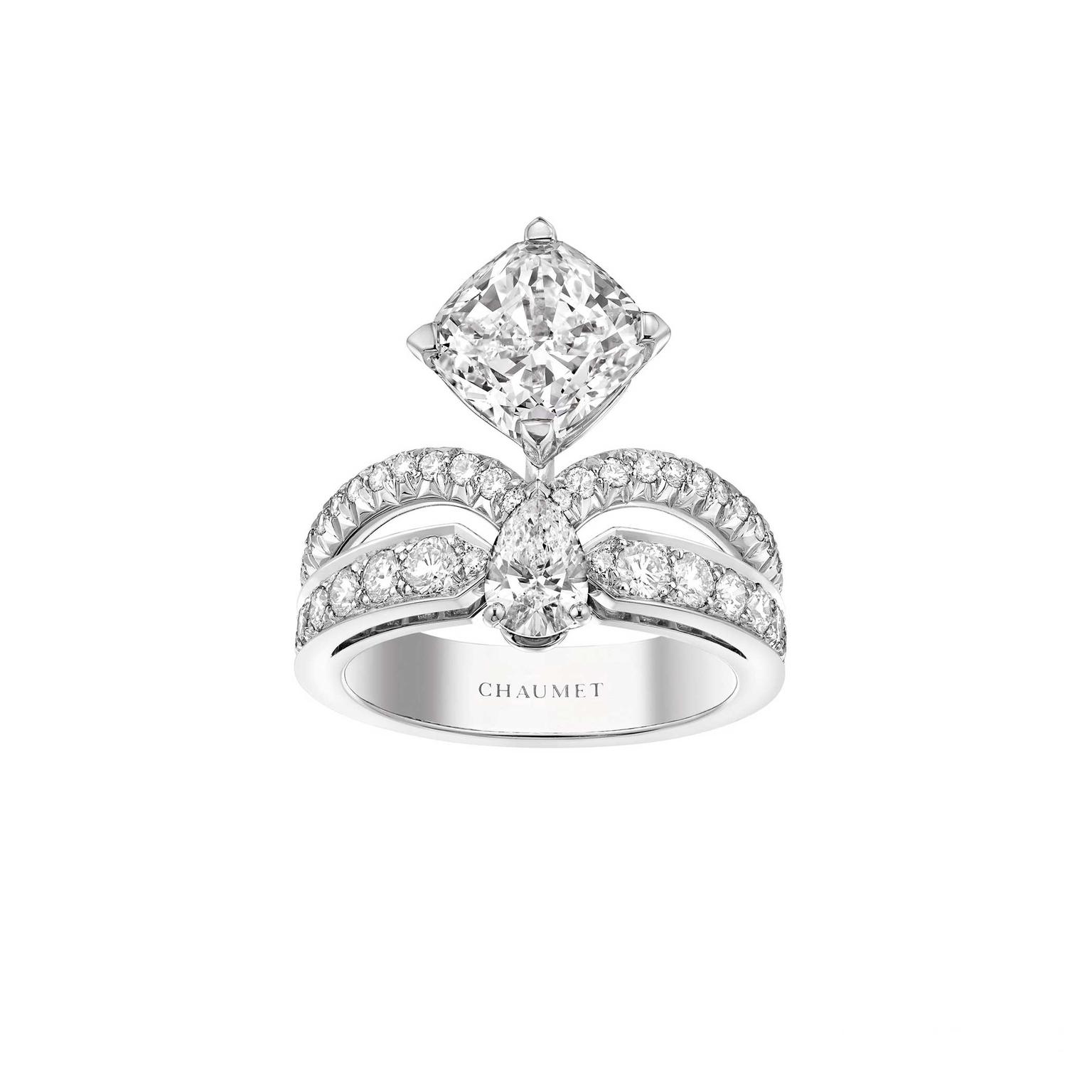 Josephine eclat floral ruby engagement ring chaumet for Chaumet wedding ring