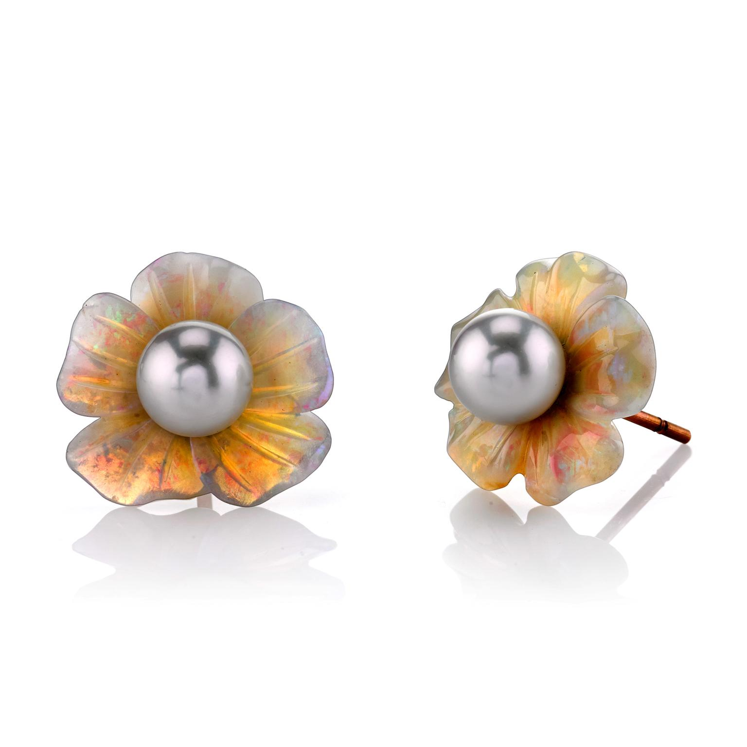 Irene Neuwirth pearl flower earrings
