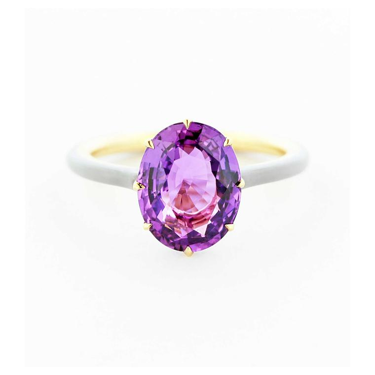 Embrace the avant-garde with these colourful engagement rings