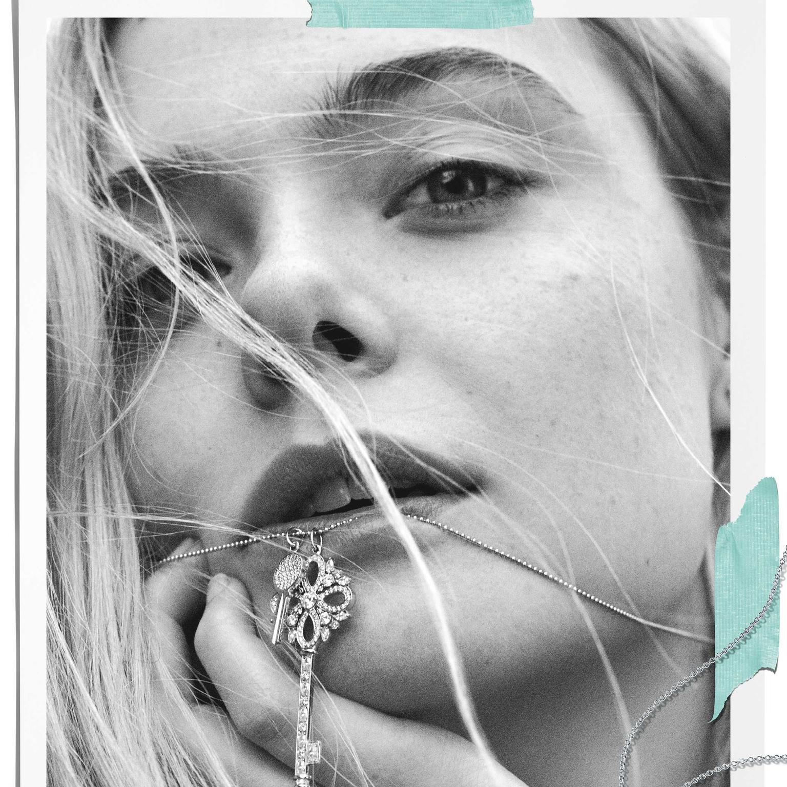 Fresh-faced Elle Fanning promotes even some of the more conservative Tiffany jewels like the Keys collection
