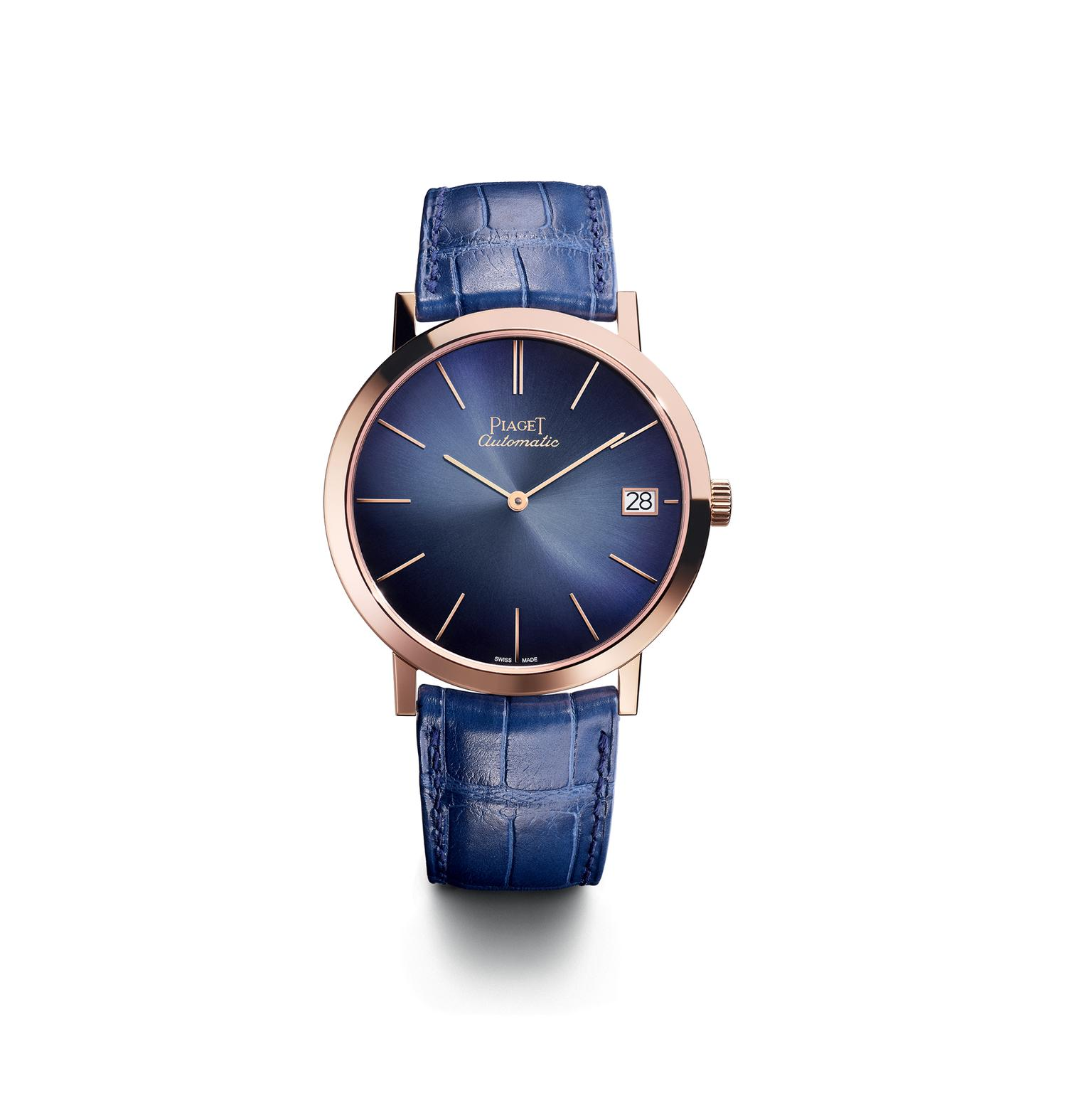 Piaget Altiplano 40mm with pink gold case and blue dial