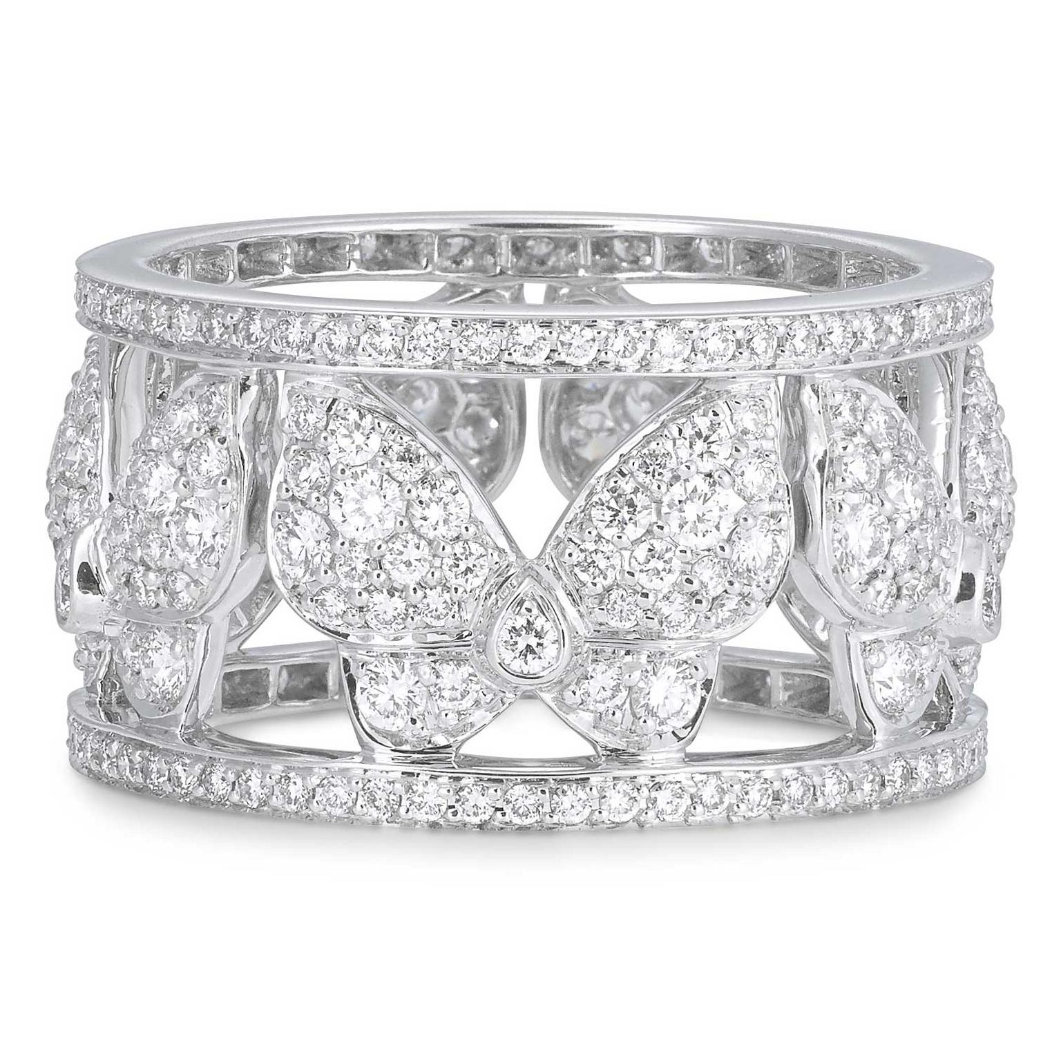 VanLeles diamond butterfly eternity ring