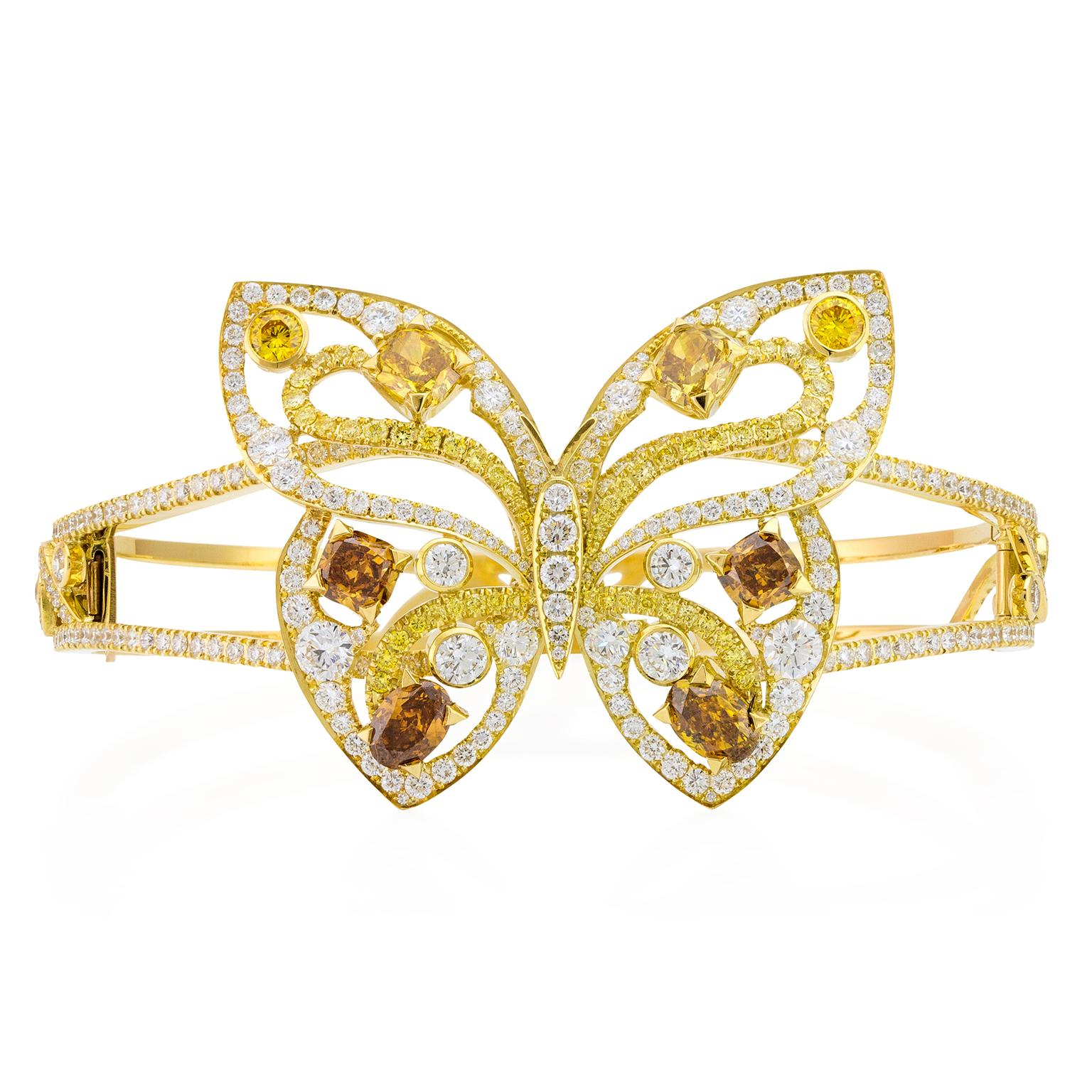 Boodles Papillon butterfly coloured diamond cuff