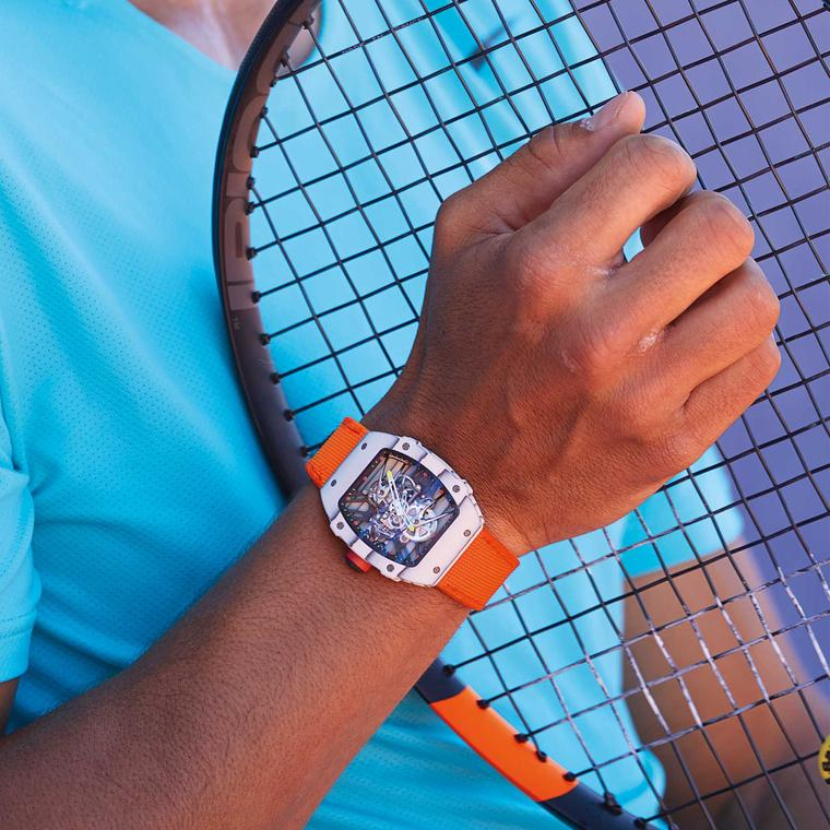 Rafael Nadal watch spotting at the French Open: a new Richard Mille model joins the tennis ace on court