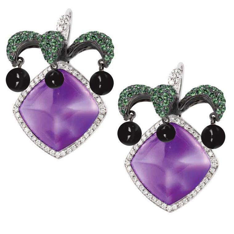 Avakian Joker amethyst earrings