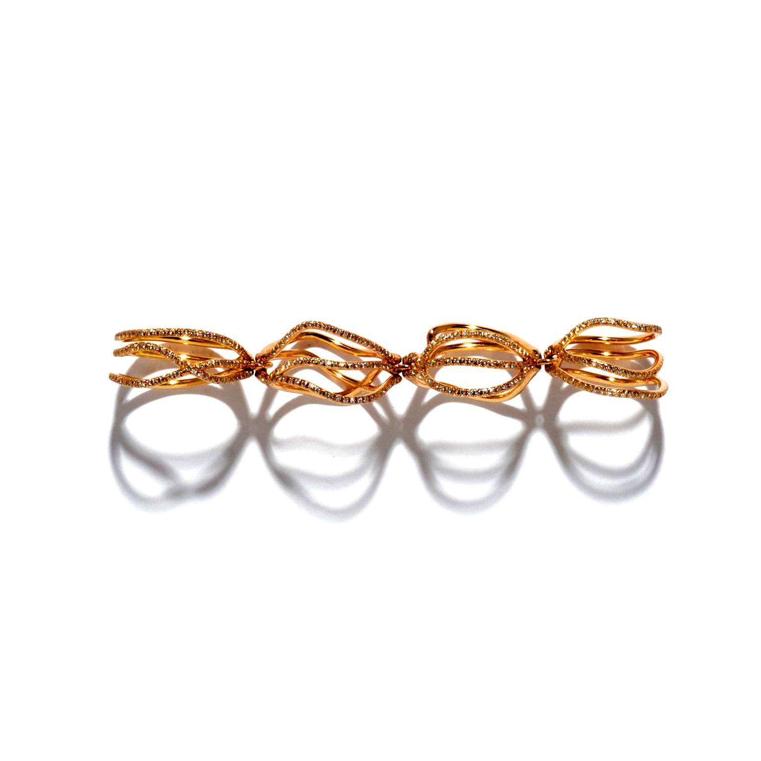Repossi pink gold ring
